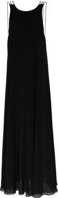 Halpern Scoop Back Trapeze Maxi Dress