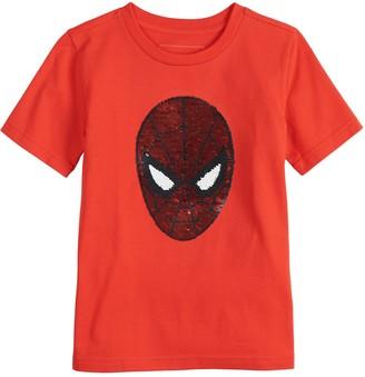 Sonoma Goods For Life Boys 4-12 Flip Sequins Marvel Spider-Man Tee
