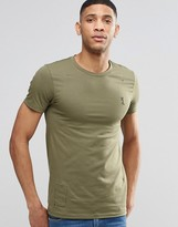 Religion Crew Neck T-shirt in Muscle Fit