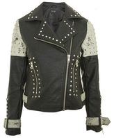 Topshop Maddox faux leather biker jacket