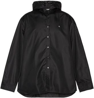 Raf Simons Big Fit R-Shirt With Hood in Black   FWRD