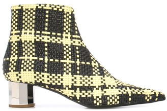 Proenza Schouler Woven Ankle Boots