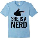 Men's She Is A Nerd Shirt Light 3XL