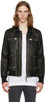 Diesel Black Leather L-Boom Jacket