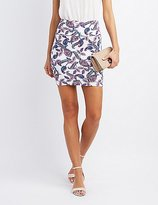 Charlotte Russe Paisley Bodycon Mini Skirt