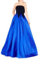 Mac Duggal Velvet & Taffeta Ball Gown