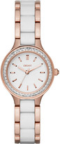 DKNY NY2496 Chambers rose gold-plated crystal watch