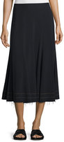 Helmut Lang Full Crepe Midi Skirt, Black