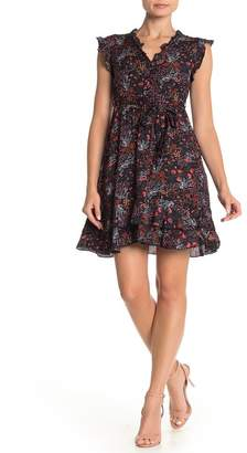 Papillon Floral Ruffled Fit & Flare Dress