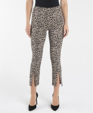Nanette Lepore Pull On Slim Ankle Pants with Front Ankle Slits