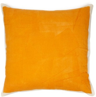 Summerill & Bishop - Hand-painted Linen Cushion - Yellow