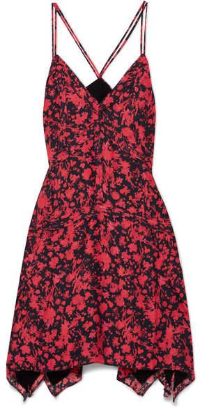 IRO Soul Floral-print Twill Mini Dress - Red