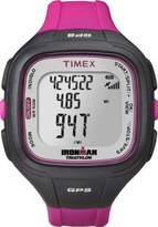 Timex Women's Quartz Watch with LCD Dial Digital Display and Pink Resin Strap T5K753F7