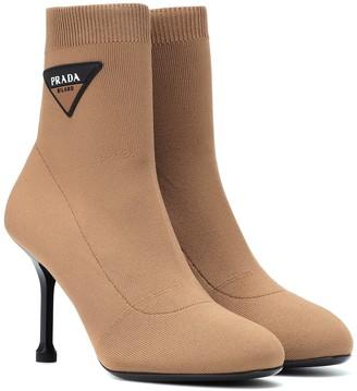 Prada Logo sock boots