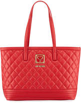 Love Moschino Quilted Napa Faux Tote Bag