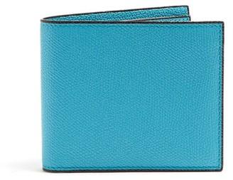 Valextra Bi-fold Leather Wallet - Mens - Light Blue
