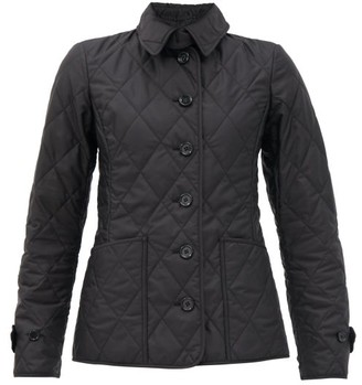 Burberry Diamond-quilted Shell Jacket - Black