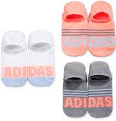 adidas Women's 3-Pk. Logo Stripe Super No-Show Socks