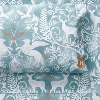 Pottery Barn Teen HARRY POTTER Magical Damask Sheet Set, Mystic Mint