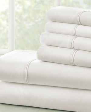 IENJOY HOME Solids in Style by The Home Collection 6 Piece Bed Sheet Set, Cal King Bedding