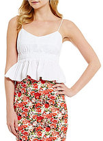 Gianni Bini Emory Poplin Pleated Tank