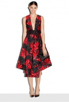 Milly Exclusive Couture Floral Fil Coupe Crossback Tea Dress