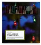 Crown King Edison Christmas Lights in Red/Green (Set of 10)