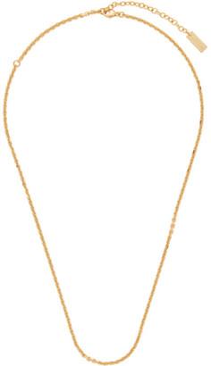 Saint Laurent Gold Chain Necklace