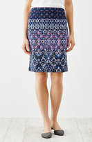 J. Jill Printed Crinkle-Knit Skirt