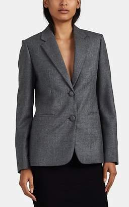 """Helmut Lang Women's """"Shrunken"""" Wool Flannel Two-Button Blazer - Gray"""
