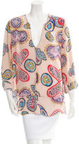 Rory Beca Silk-Blend Printed Top w/ Tags