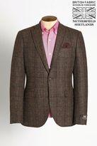 Next Brown Signature Donegal British Wool Slim Fit Jacket