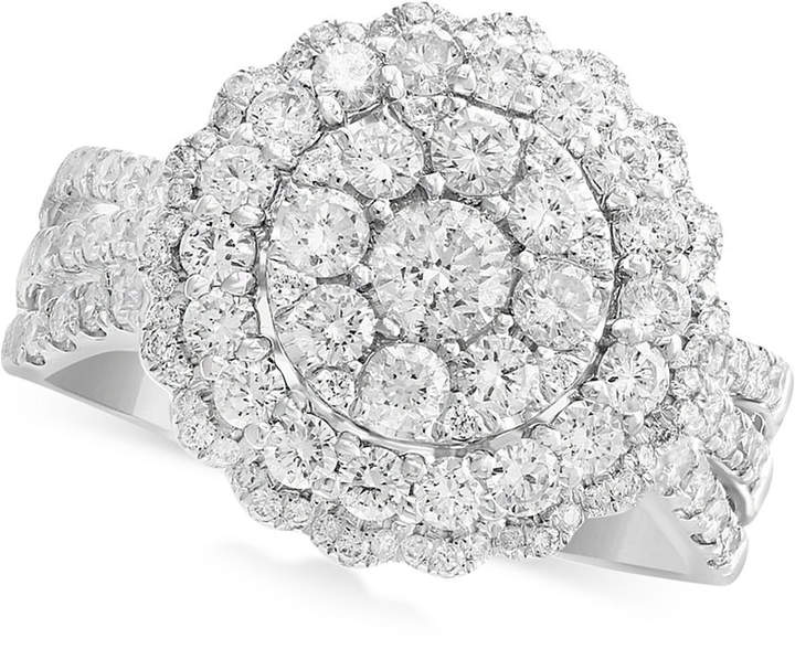 Effy Rock Candy by Diamond Halo Cluster Ring (1-1/3 ct. t.w.) in 14k White Gold