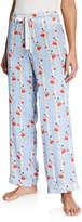 Morgan Lane Chantal Floral Stripe Silk Pajama Pants