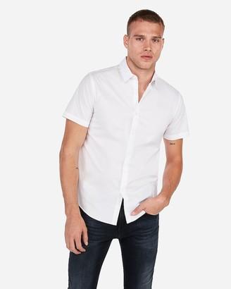 Express Slim Short Sleeve Dress Shirt