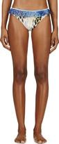 Roseanna Yellow Leopard Ruffled Trim Bikini Bottom