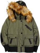 XOXO Faux Fur Trim Hooded Jacket (Big Girls)