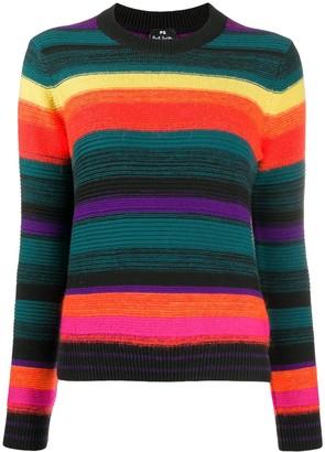 Paul Smith striped rainbow jumper