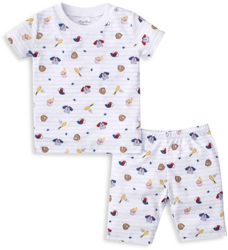 Kissy Kissy Baby's, Little Boy's, & Boy's 2-Piece Ball Park Tee & Shorts Pajama Set