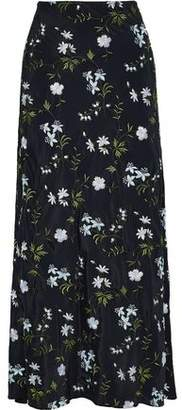 Paco Rabanne Embroidered Crepe Maxi Skirt
