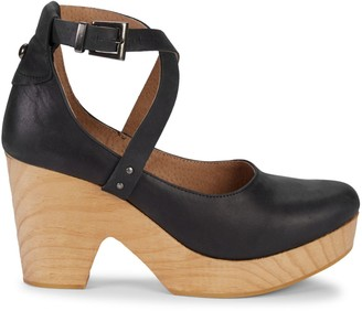 Free People Buena Vista Leather Mary Jane Clogs