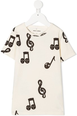 Mini Rodini musical notes T-shirt