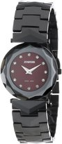 Jowissa Women's J1.020.M Safira 99 Sunray Dial Black Ceramic Watch