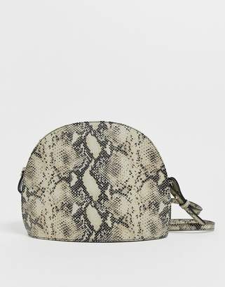 Vagabond Shannon natural snake effect leather dome cross body bag-Multi