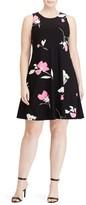 Lauren Ralph Lauren Plus Size Women's Floral Jersey A-Line Dress
