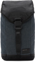 Diesel Indigo and Black D-v-denim Flap Backpack