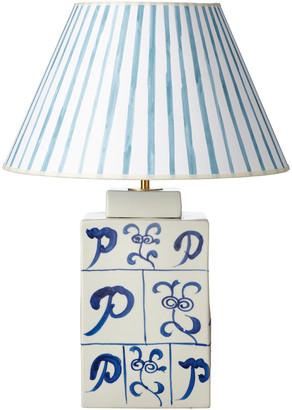 OKA Lea Ceramic Table Lamp - Blue