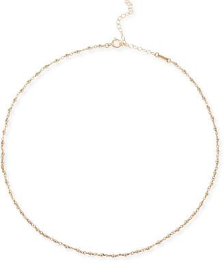 Mizuki 14k Gold Wrapped Bead Choker Necklace