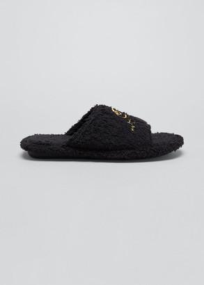 Balenciaga Home Furry Logo Slippers