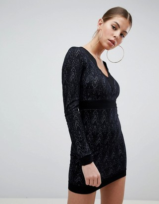 AX Paris Long Sleeve Lace Dress